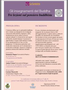 Corso buddismo La Ginestra Parma