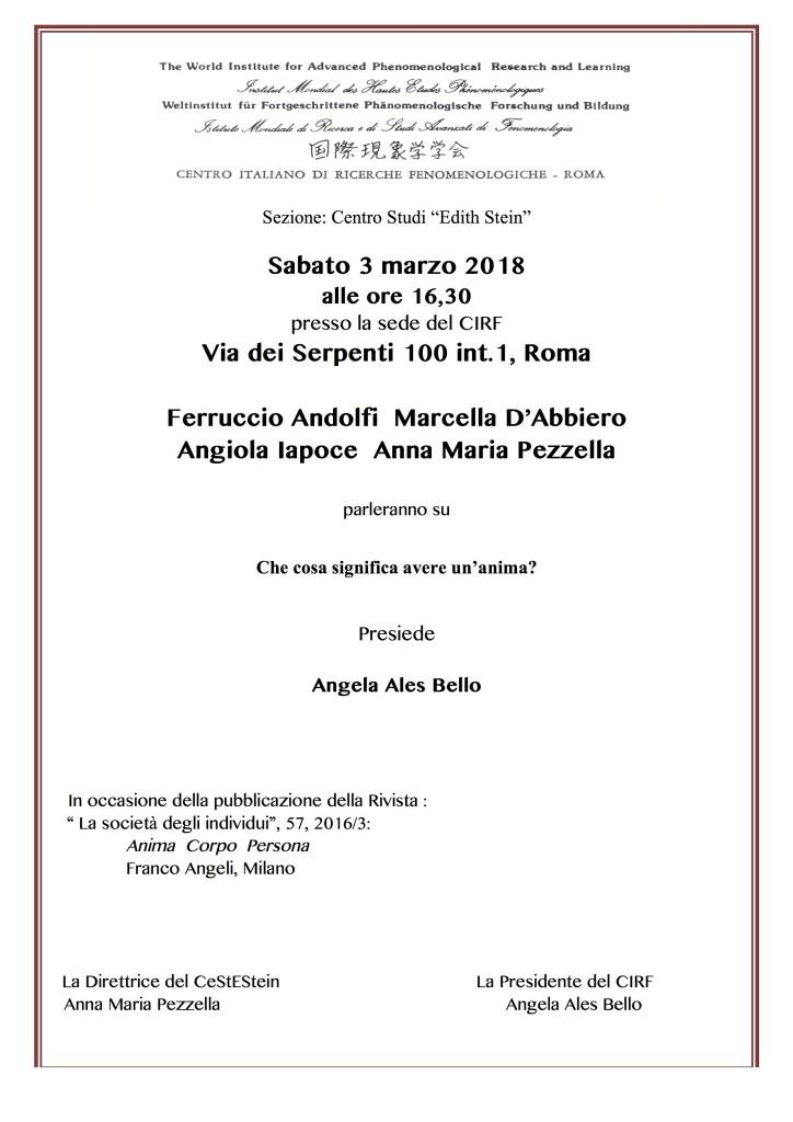 3 marzo 2018 Invito CIRF